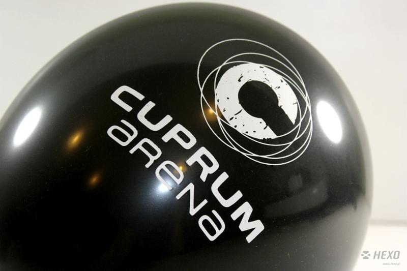 Balony z nadrukiem dla Cuprum Arena Lubin