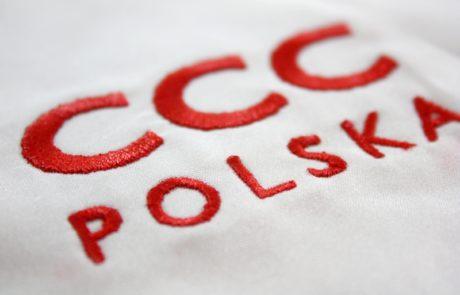 CCC Polska - haft komputerowy na koszulach