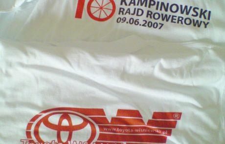 Koszulka bawełniana z oznakowaniem TOYOTA - znakowanie odzieży