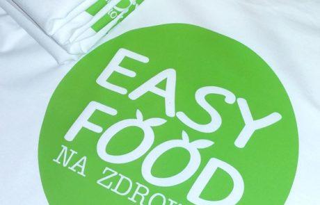 Koszulki bawełniane z nadrukiem EASY FOOD Lubin - znakowanie odzieży