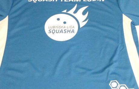 Koszulki sporotwe squash Lubin - znakowanie odzieży