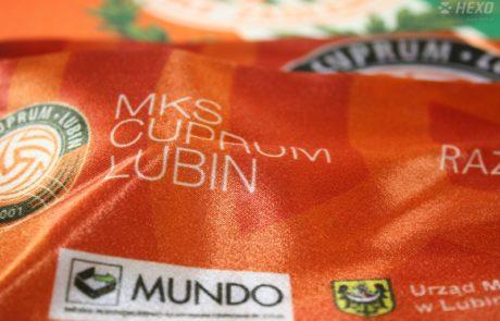 Miniszaliki Cuprum Lubin HEXO - znakowanie odzieży