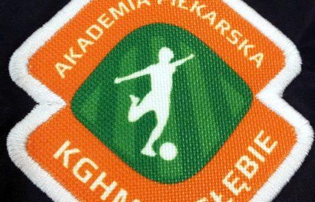Naszywka sublimacyjna Akademia Piłkarska KGHM Zagłębie - znakowanie odzieży