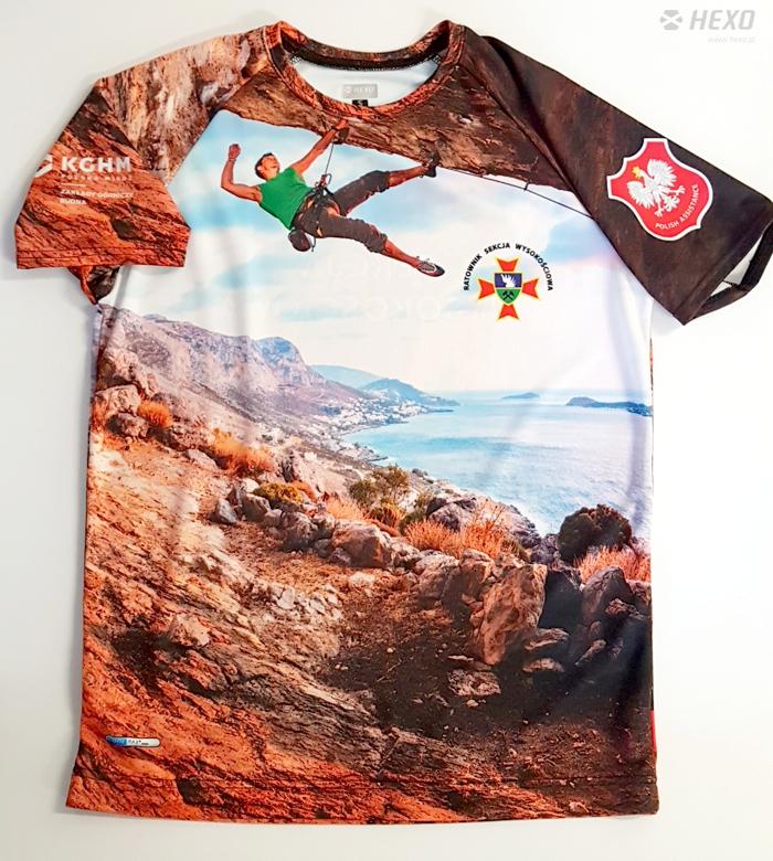 Koszulki oddychające, sportowe z zadrukiem full print dla Ratownictwa KGHM