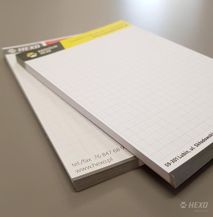 Notesy A6 z zadrukiem www.hexo.pl